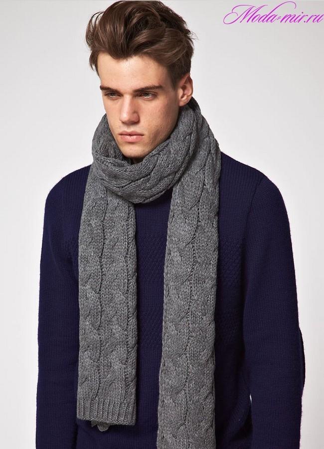 Мужские шарфы осень зима 2018-2019